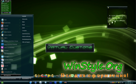 Тема для Windows 7 Green-Theme